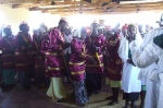people in church in African country